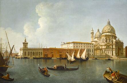 William James, 'Santa Maria della Salute, Venice, with Gondolas', 18th Century