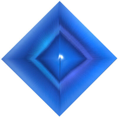 Alberto Biasi, 'Quell'azzurro che si perde nel blu', 2009