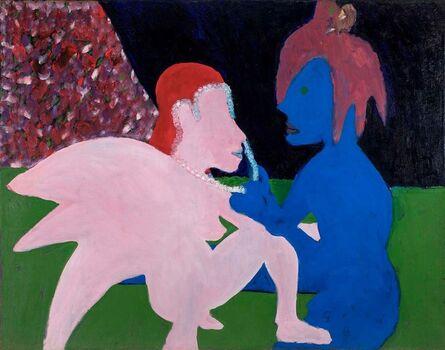 Bob Thompson, 'Adoration (Pink and Blue Figures)', 1962