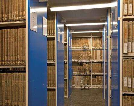Liu Bolin, 'Hiding in Paris No. 6 - Archives', 2011