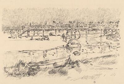 Childe Hassam, 'Bathing Beach, Bass Rocks', probably 1918