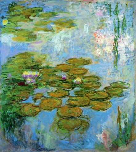Claude Monet, 'Nymphéas (Water Lilies)', 1916-1919