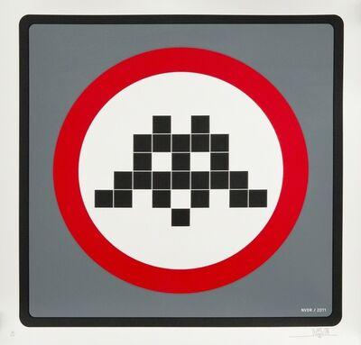 Invader, 'Warning (Grey)', 2011