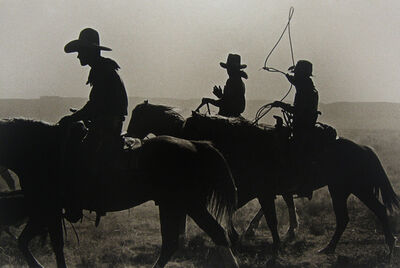 Bank Langmore, 'Untitled (three cowboys on horseback)', 1973-1975