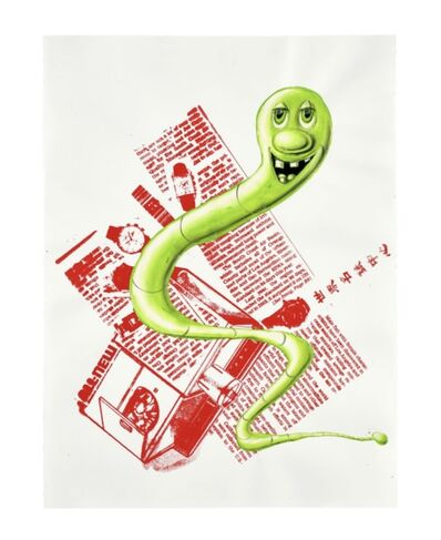 Kenny Scharf, 'Green Work USA', ca. 2006