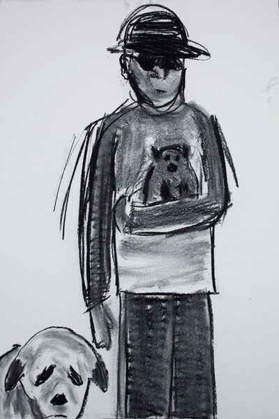 Kathryn Lynch, 'Man at Dog Run with Big 'n 'Lil', 2010