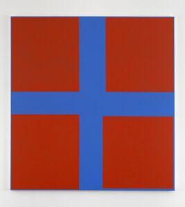Jon Thompson, 'Simple Paintings, Blue Cruciform (Fouquet's Angels)', 2012/13