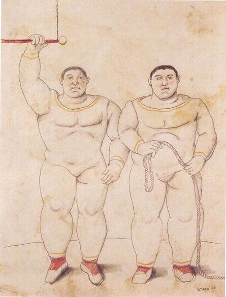 Fernando Botero, 'trapezistas', 2007