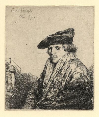 Rembrandt van Rijn, 'Young Man in a Velvet Cap (Petrus Sylvius?)  ', 1637