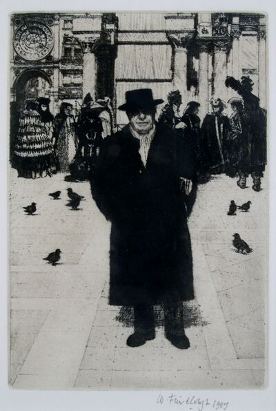 Wilfred Fairclough, 'Self-portrait, Venice', 1987