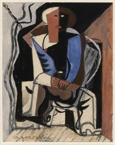Louis Marcoussis, 'Couple Assis', 1922