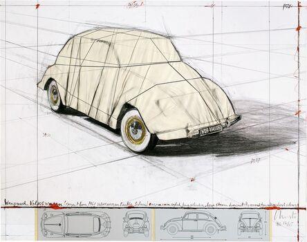 Christo, 'Wrapped Volkswagen, Project for 1961 Volkswagen Beetle Saloon', 2013