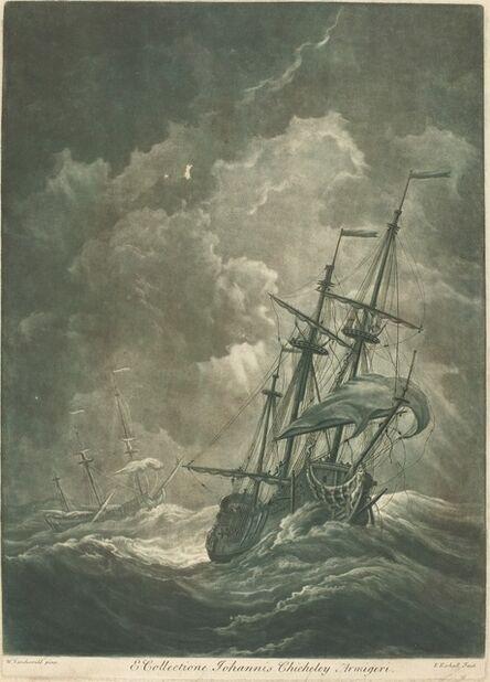 Elisha Kirkall after Willem van de Velde the Elder, 'Shipping Scene from the Collection of John Chicheley', 1720s