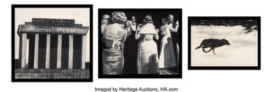 Robert Longo, 'Ho Chi Minh, Dancers, and Dog (triptych)', 1985