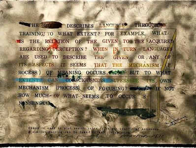 "Shusaku Arakawa, 'Untitled 3 from ""No!"" Says the Signified', 1973"