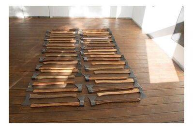 Fraser Stewart, '42 of 44 axes', 2015