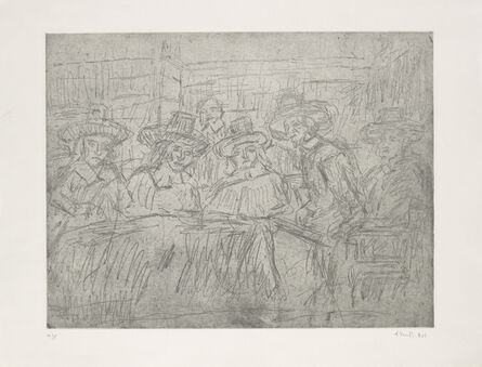 Leon Kossoff, 'From Rembrandt 'The Syndics'', 1980s