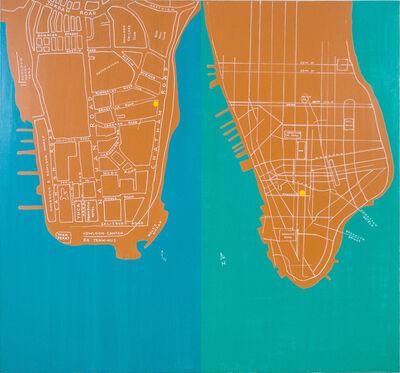 David Diao, 'Kowloon & Manhattan', 2014
