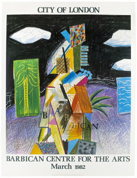 David Hockney, 'Barbican Centre for the Arts, Miami 1982 (Detail from Cubistic Bar 1980)', 1982