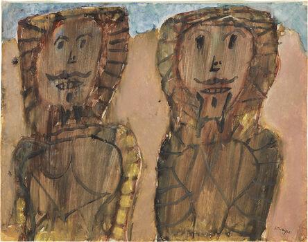 Jean Dubuffet, 'Deux arabes', January -April 1948