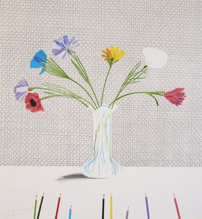 David Hockney, 'Coloured Flowers Made of Paper and Ink', 1971