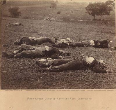 Timothy H. O'Sullivan, 'Field Where General Reynolds Fell, Gettysburg, July 5, 1863', July 5-1863