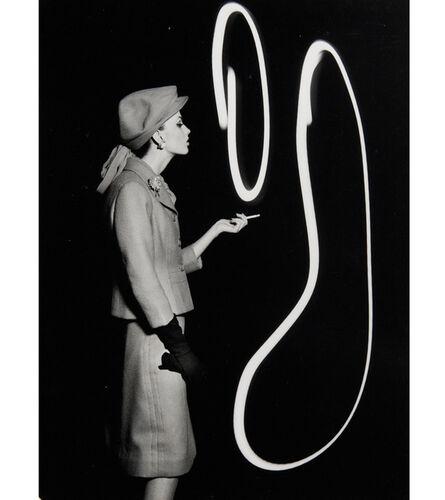 William Klein, 'Dorothy Blowing Light Smoke Rings, Paris', 1962