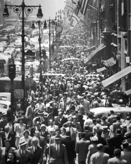 Andreas Feininger, 'Midtown Fifth Avenue During Lunch Hour, New York', 1948