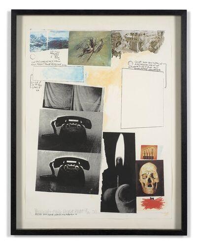 Robert Rauschenberg, 'Poster for peace', 1970-1971