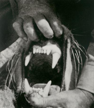 John Baldessari, 'Hands & Feet: Hands, Tiger & Teeth', 2017