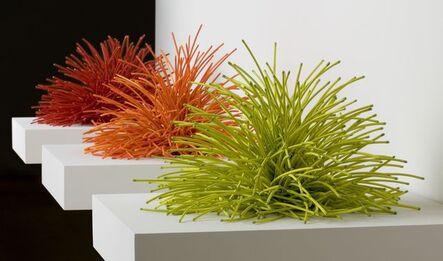Bean Finneran, 'Bean Finneran Red, Orange and Chartreuse Curves', 21st Century