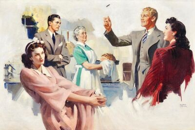 Andrew Loomis, 'Man Flipping a Coin, Probable Interior Magazine Illustration, 1942', 1942