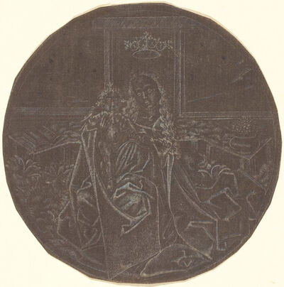 Master E.S. Facsimile, 'The Madonna and Child in a Garden', 19th century facsimile after an engraving of c. 1465-1467