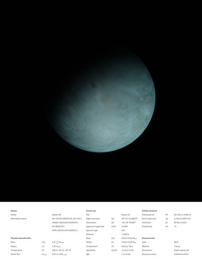 Kerem Ozan Bayraktar, 'Kepler 62-f', 2018