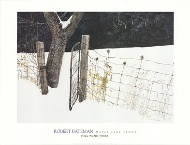 Robert Bateman, 'Maple Leaf Fence', 2000