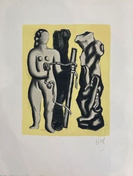 Fernand Léger, 'Woman on yellow background ', 1952