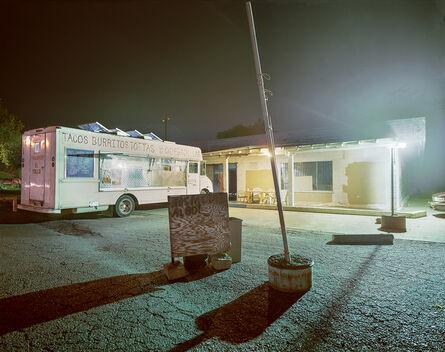 Jim Dow, 'Taquería El Pollo Taco Truck Parked at Night, Woodland, California', 2011