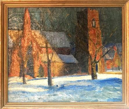 Walter Emerson Baum, 'Winter Night Scene of Church', 1940s