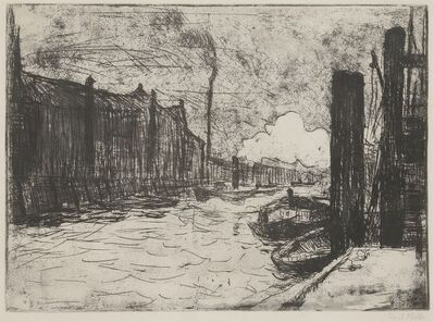 """Emil Nolde, '""""Hamburg, Freihafen (Hamburg Harbor)""""', 1910"""