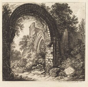George Cuitt the Younger, 'Saxon Arch', 1810