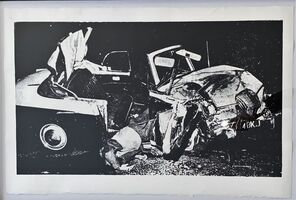 Andy Warhol, 'Car Crash Disaster - unique -', 1978