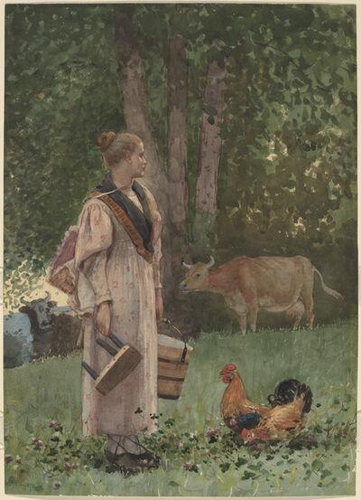 Winslow Homer, 'The Milk Maid', 1878