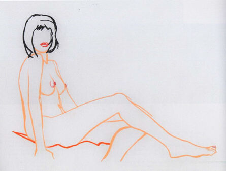 Tom Wesselmann, 'Monica Sitting, One Leg on the Other'