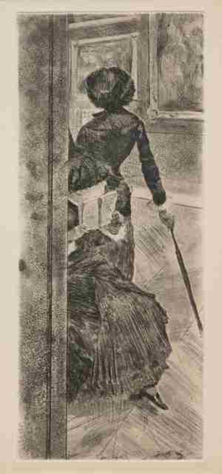 Edgar Degas, 'Au Louvre - La Peinture (Mary Cassatt)'