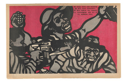"""Emory Douglas, ' """"We shall have our freedom, we will have our vengeance...""""', 1970"""