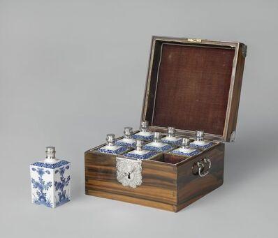 'Chest with nine porcelain bottles', ca. 1680 -c. 1700