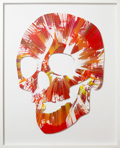 Damien Hirst, 'Spin Painting - Red Skull', 2009