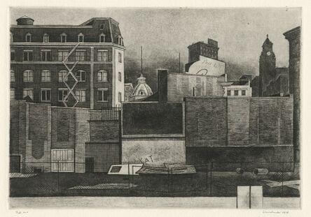 Armin Landeck, '12th Street Walls II', 1978