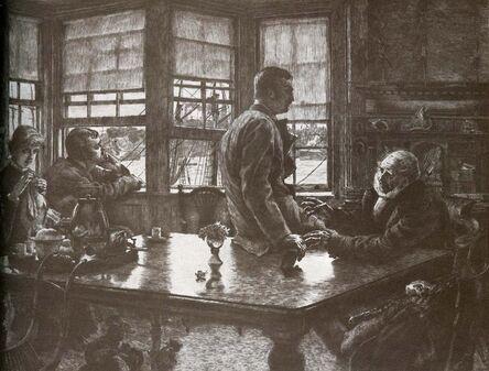 James Jacques-Joseph Tissot, 'L'Enfant Prodigue: Le Depart', 1882