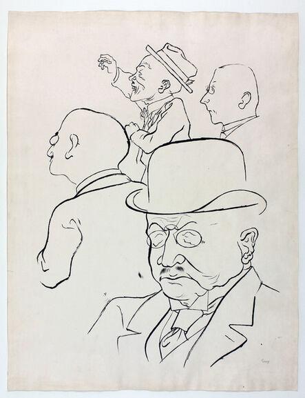 George Grosz, 'Geldleute', 1923